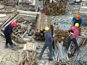 empleados de la construccion
