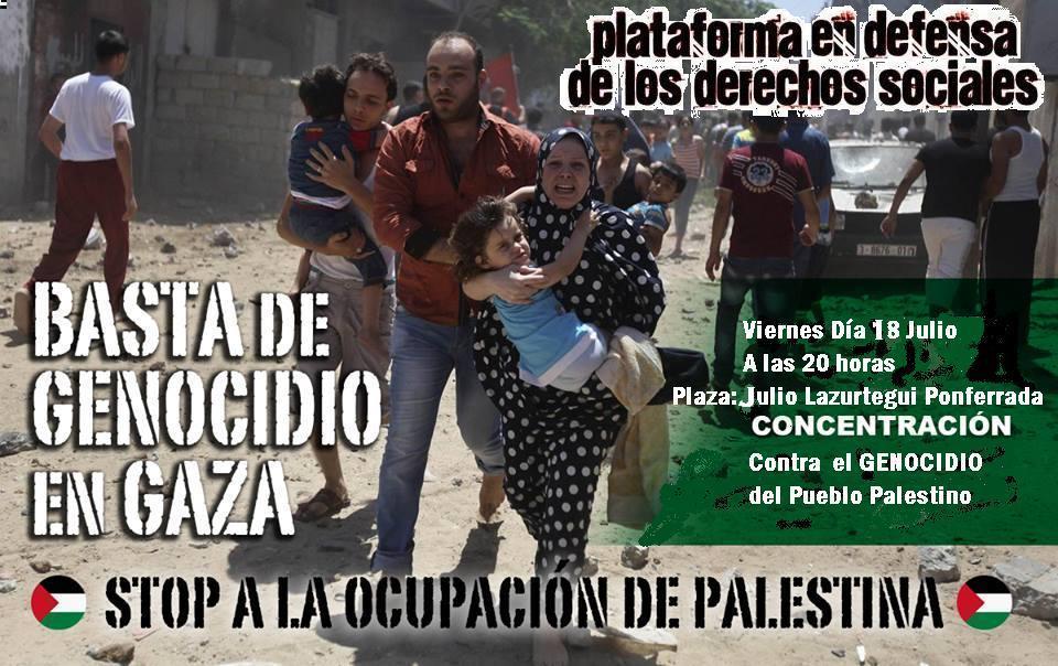 Concentración contra el genocidio del Pueblo Palestino