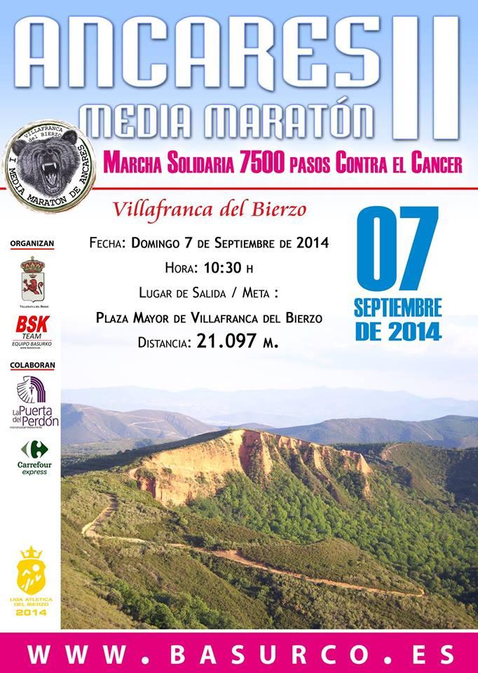 II Media Maratón de Ancares y I Marcha Solidaria '7.400 pasos contra el Cáncer'