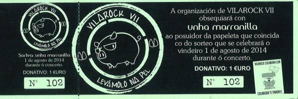 Rifas sorteo Vilarock