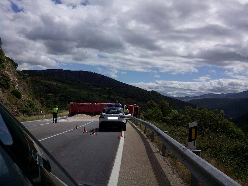 camion accidentado N-120