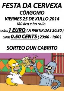 Festa de Cervexa en Córgomo para este venres