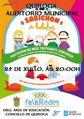 'O Sabichón e os bolechos' en el Auditorio de Quiroga este viernes