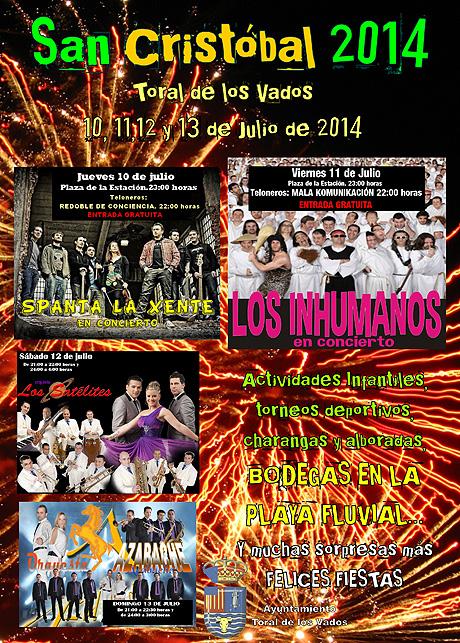 cartel de las fiestas de san cristobal toral de los vados 2014