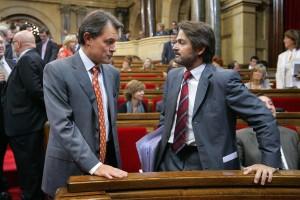 Artur Mas y Oriol Pujol