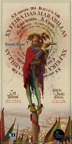 Cartel de la XX Feria de las Maravillas de A Coruña
