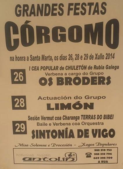 Grandes Festas en Córgomo