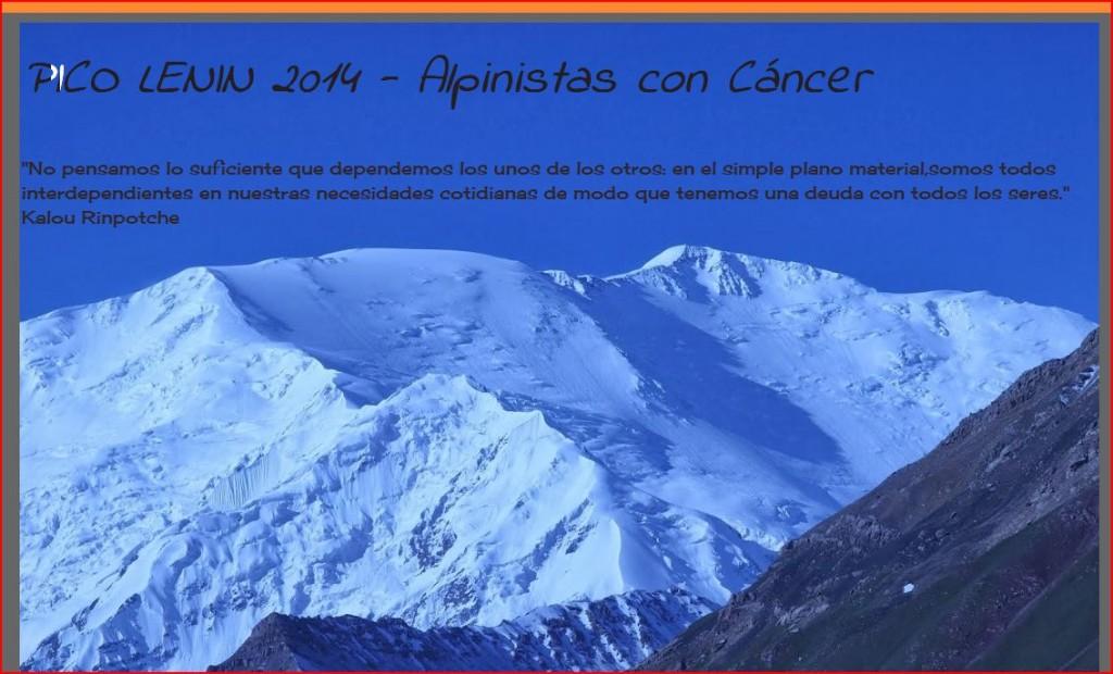 La asociación de alpinistas con cáncer con Sheila