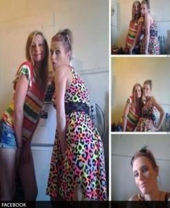 Selfie con vestido robado