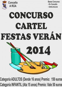 concurso de carteis Festas de Verán 2014 en A Rúa
