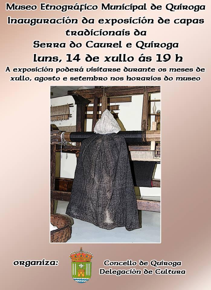 exposición de capas tradicionais da Serra do Caurel e Quiroga