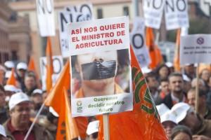 manifestación de agricultores