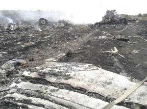 Restos avion Malaysia Airlines
