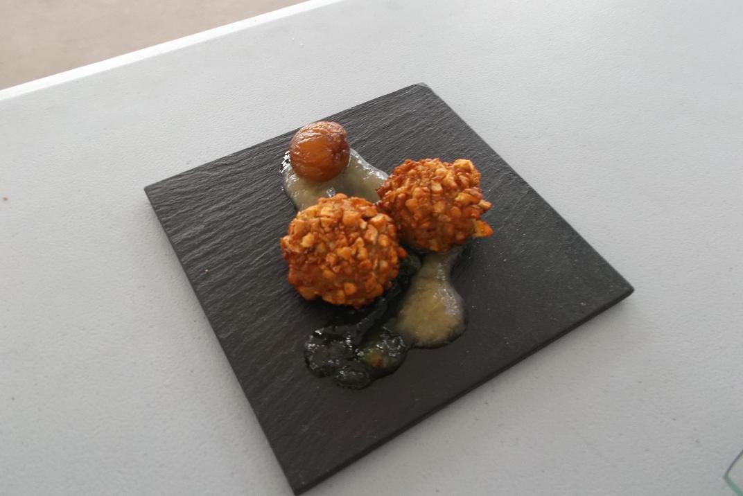Croquetas de menú degustación