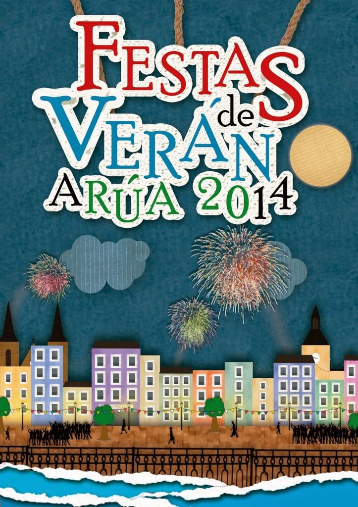 Cartel Festas de Verán a Rúa 2014