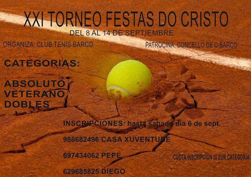 XXI Torneo de Tenis Festas do Cristo