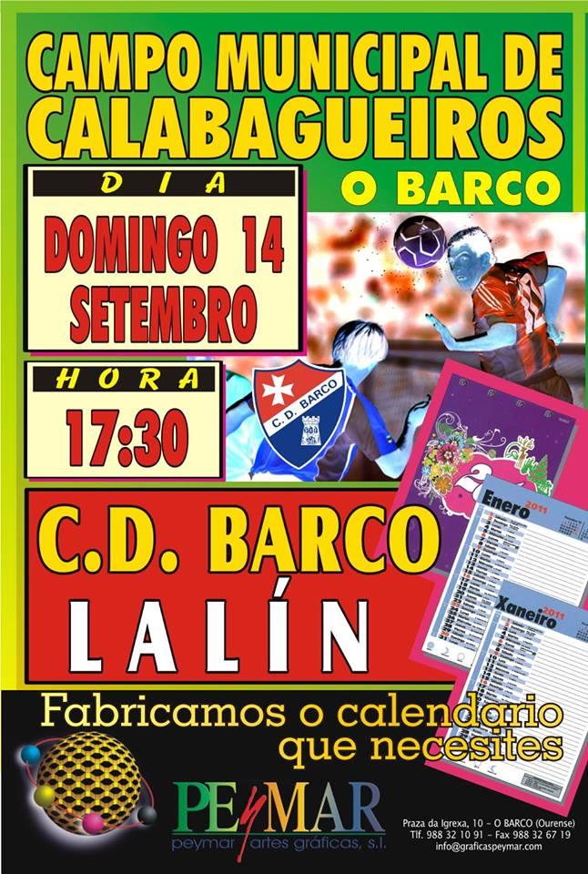 CD BARCO - CD LALÍN no Estadio de Calabagueiros