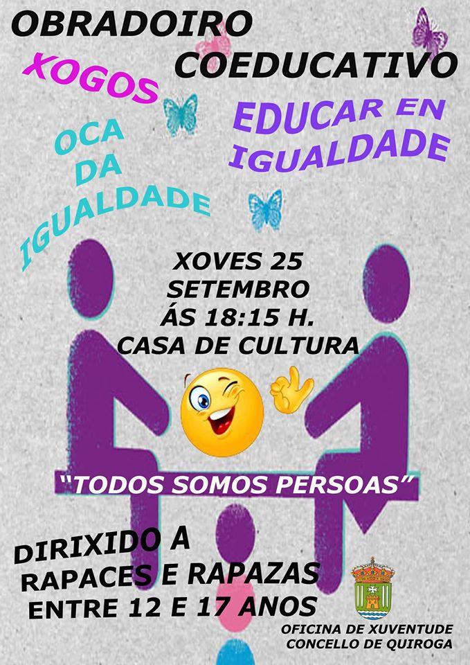 Obradoiro Coeducativo en Quiroga