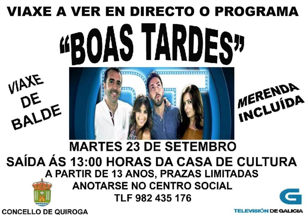 Viaxe para ver en directo o programa 'Boas tardes' da Televisión de Galicia