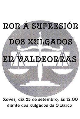 cartaz para a concentración do xoves
