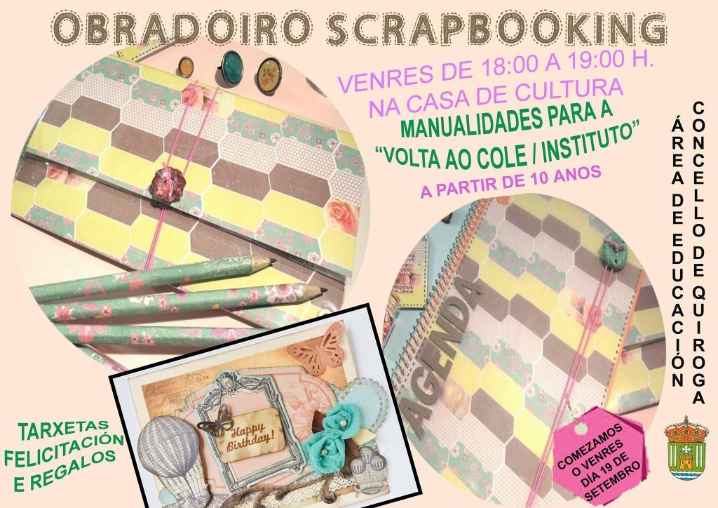 Actividad extraescolar en Quiroga, Obradoiro Scrapbooking