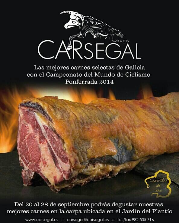 Carpa degustación carne gallega Mundial Ciclismo Ponferrada 2014