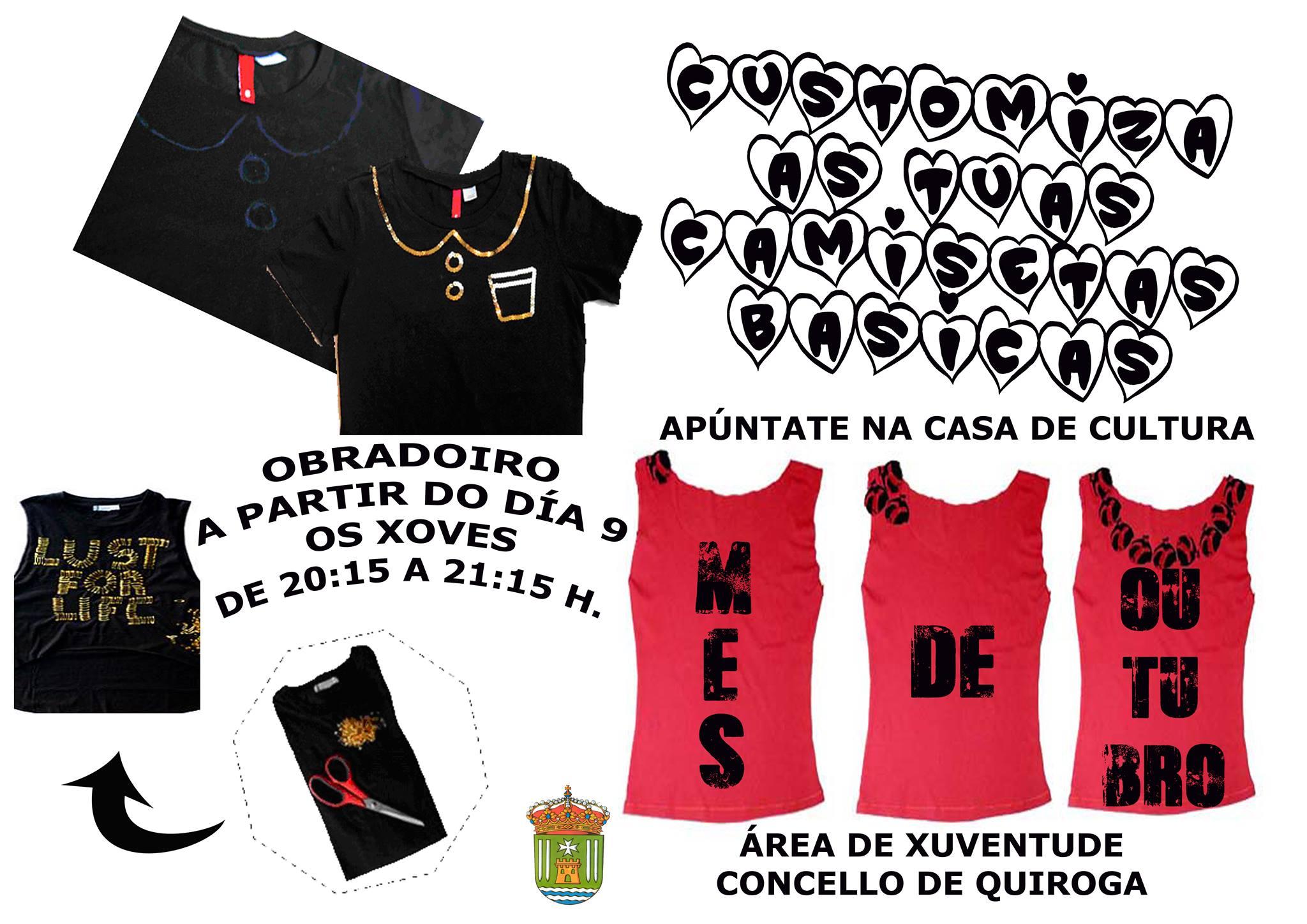 Obradoiro de customizar camisetas no Concello de Quiroga