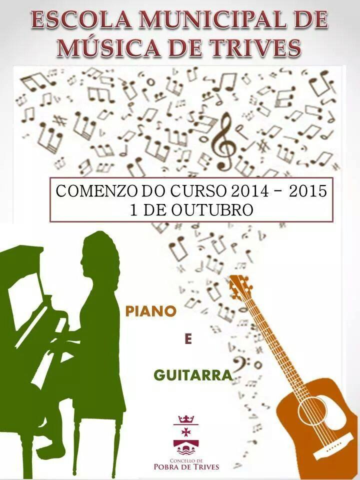 comezo do curso na escola municipal de música de trives
