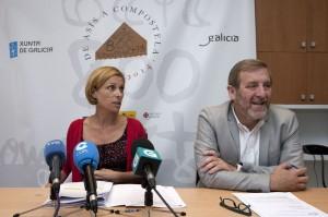 A directora de Turismo de Galicia e o xerente do Xacobeo presentaron esta mañá o Primeiro Congreso sobre Peregrinacións e Turismo Autor: Ana Varela. Foto Xunta