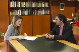 A directora xeral de Conservación da Natureza mantivo unha reunión co alcalde de Mondariz. Autor: Xoán Crespo