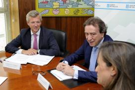 Alfonso Rueda na reunión co consejero de Presidencia de la Junta de Castilla-León