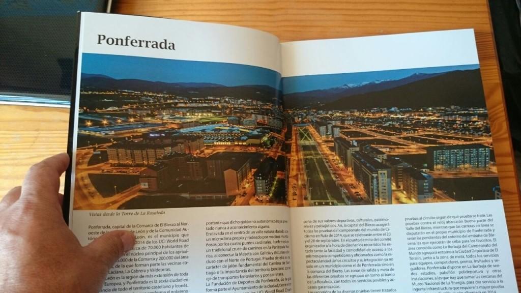 Una de sus instantáneas en el interior de la publicación Ponferrada 2014 es la Meta