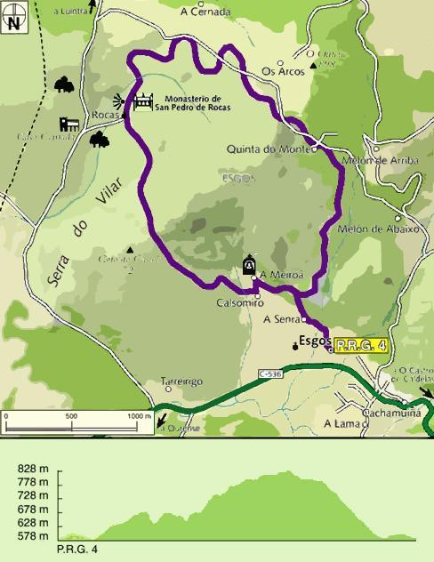 Ruta Camiño Real de San Pedro de Rocas en Esgos