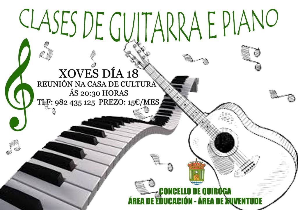 clases de guitarra y de piano