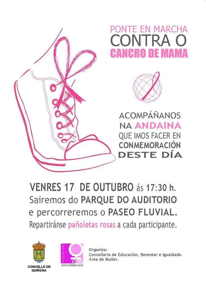 Marcha contra o cancro en Quiroga