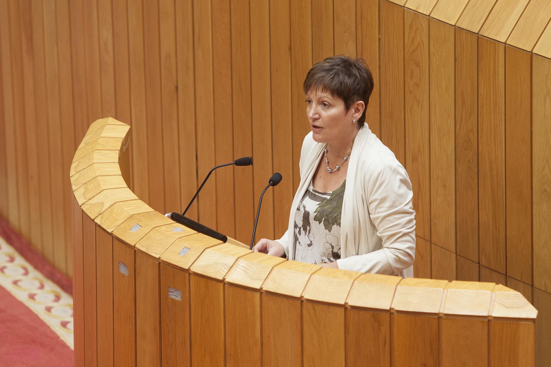 A conselleira de Sanidade, Rocío Mosquera Álvarez, informou hoxe, no Pleno do Parlamento de Galicia, das medidas postas en marcha polo seu departamento en relación ao virus do ébola.  Autor: Xoán Crepo