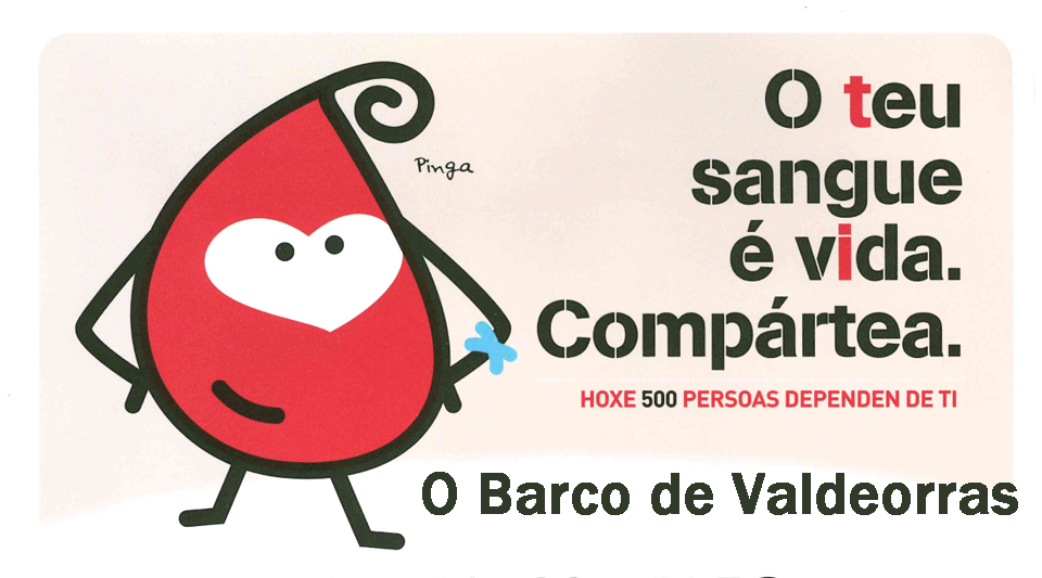Cartel doazon sangue O Barco