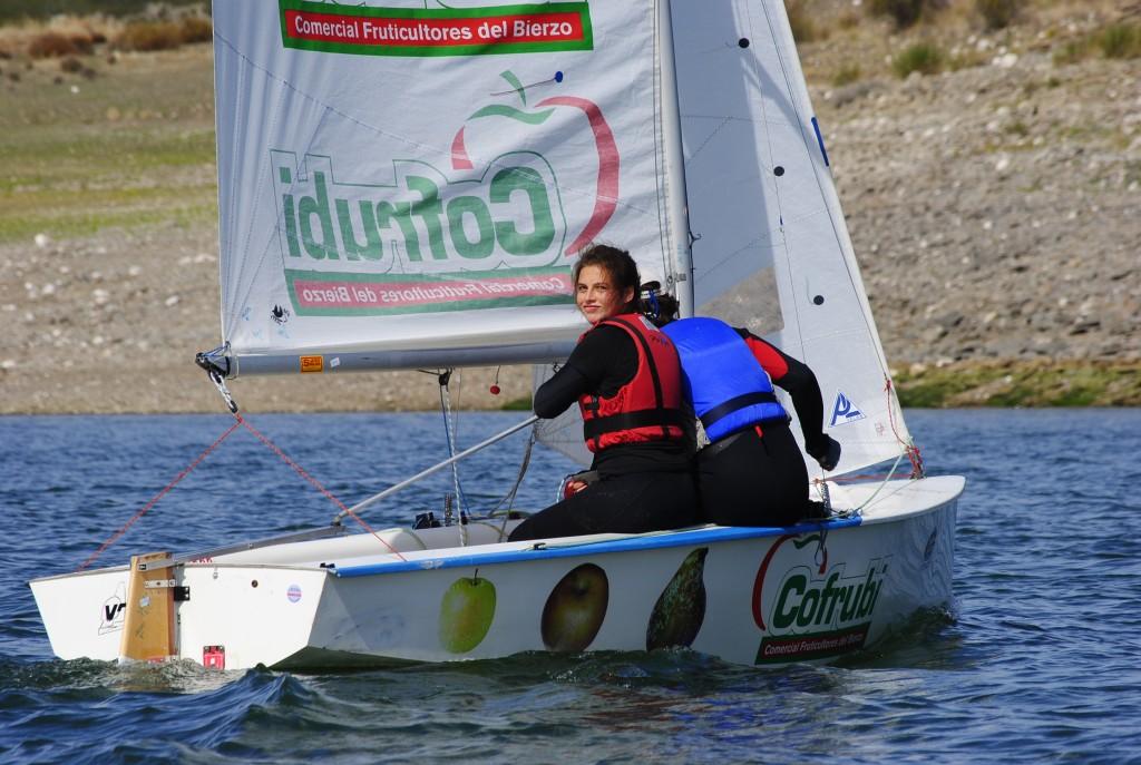 Elena Martínez en uno de sus entrenamientos a la caña del Cofrubi. Foto cedida por T. Luna