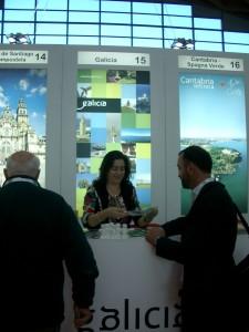 El stand de Galicia en el 'TTG Incontri'