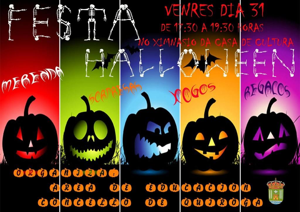 Festa de Halloween organizada pola Area de Educación do Concello de Quiroga