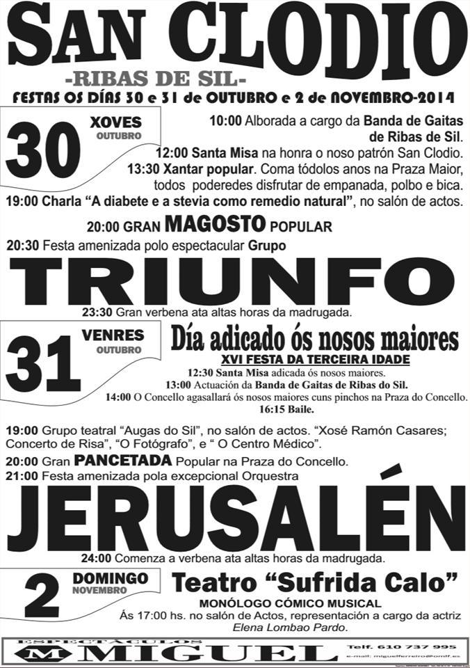 Fiestas de San Clodio en Ribas del Sil