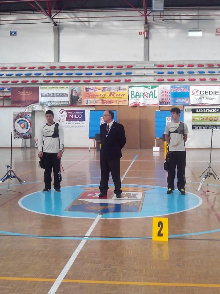 Final recurvo senior masculino entre Maikel Alvariño Garcia vs Daniel Castro. Foto FB ArcoBarco