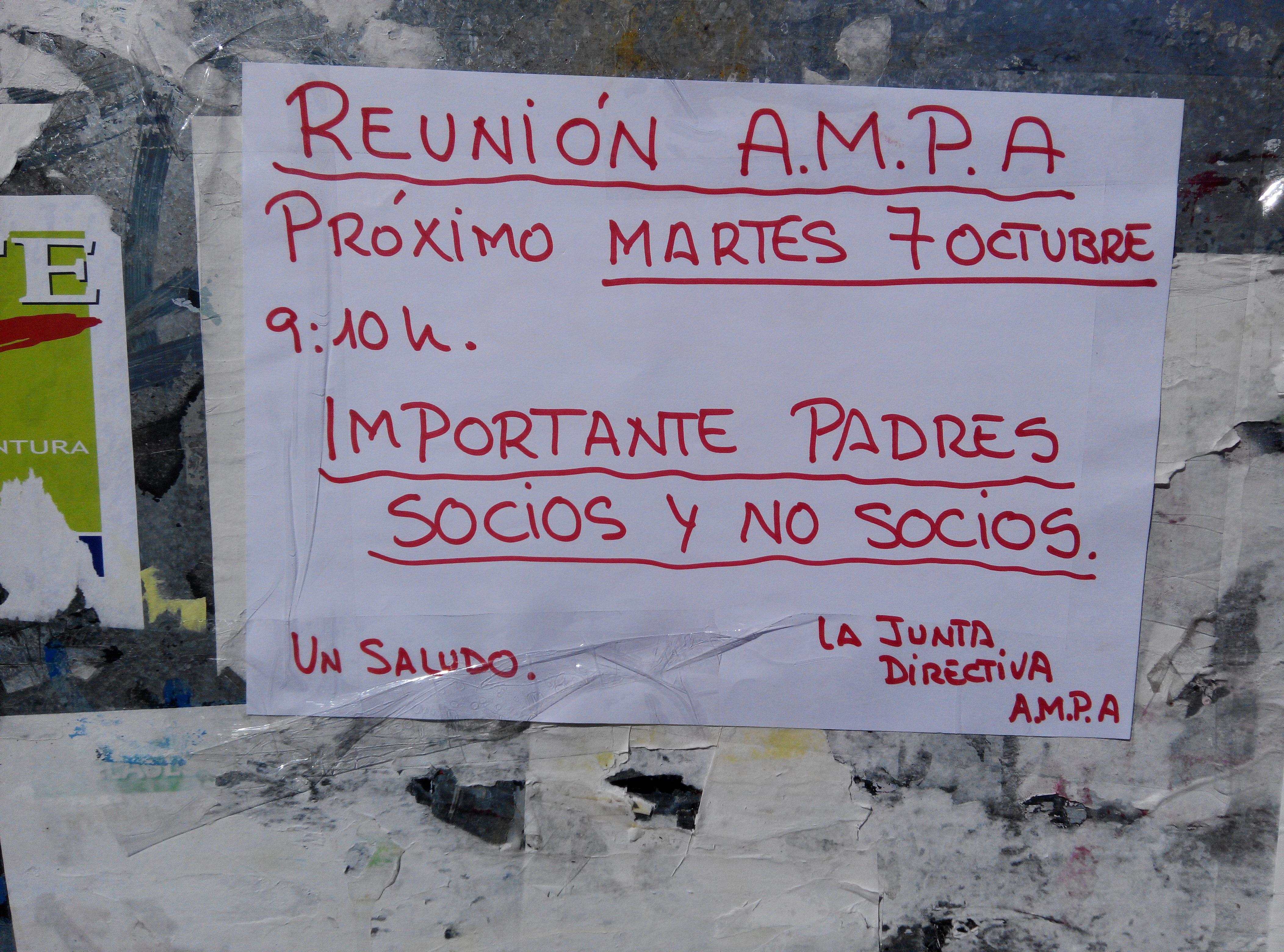 Próxima reunión AMPA