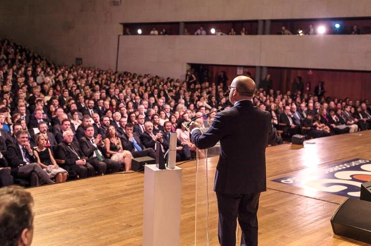 Manuel Baltar, na súa intervención na gala Gallegos del Año