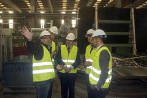 O director xeral de Enerxía e Minas, Ángel Bernardo Tahoces visita as instalacións do Grupo Levantina no Porriño