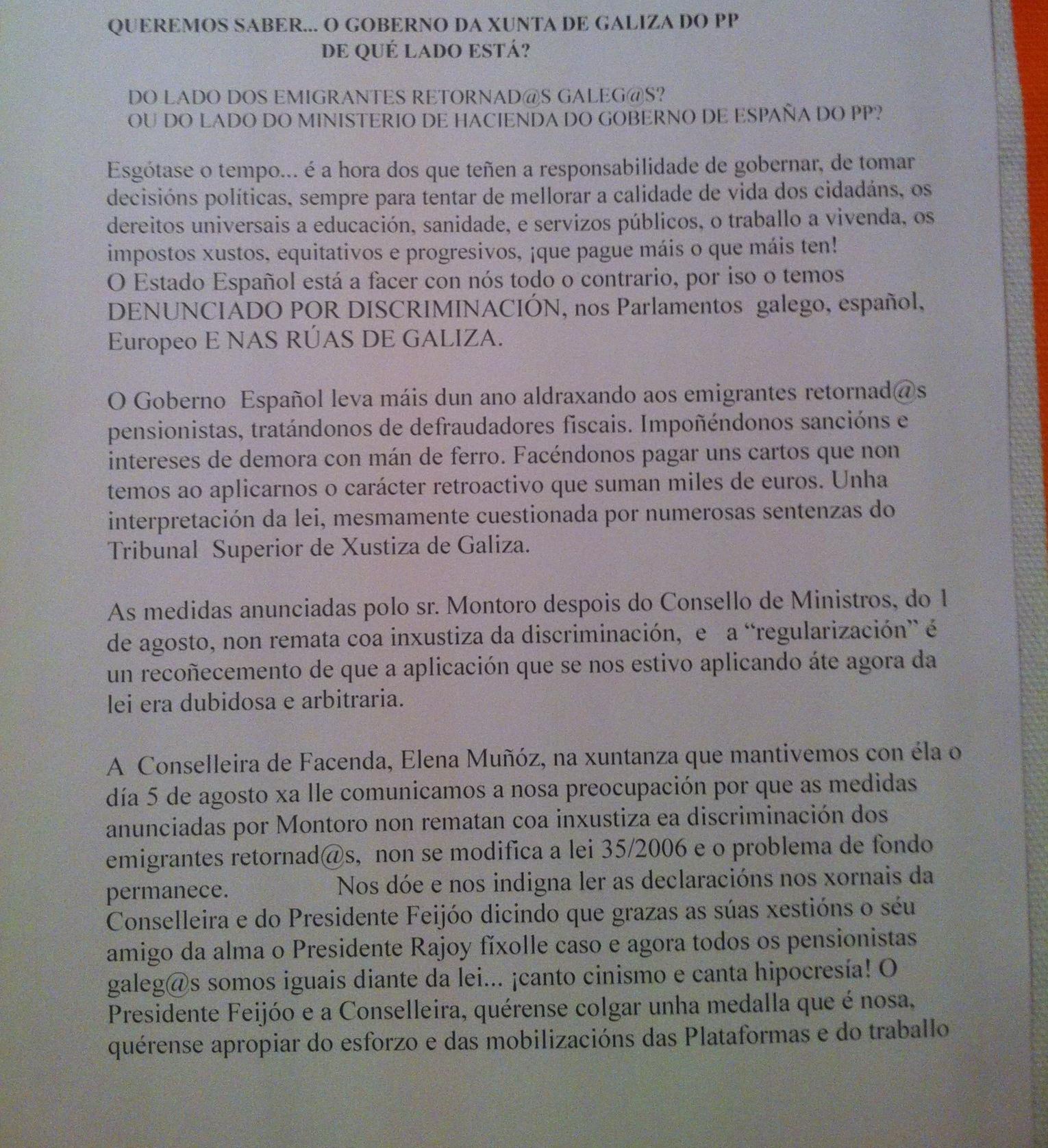 Manifesto 1/2 Colectivo emigrantes retornados