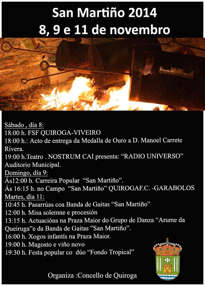 Hoxe, mañá e o martes o San Martiño en Quiroga