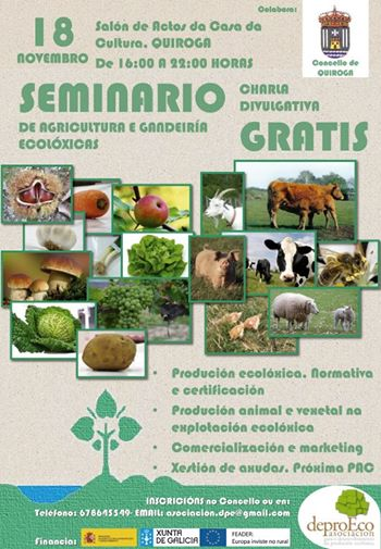 Seminario de Agricultura e Gandería Ecolóxica en Quiroga