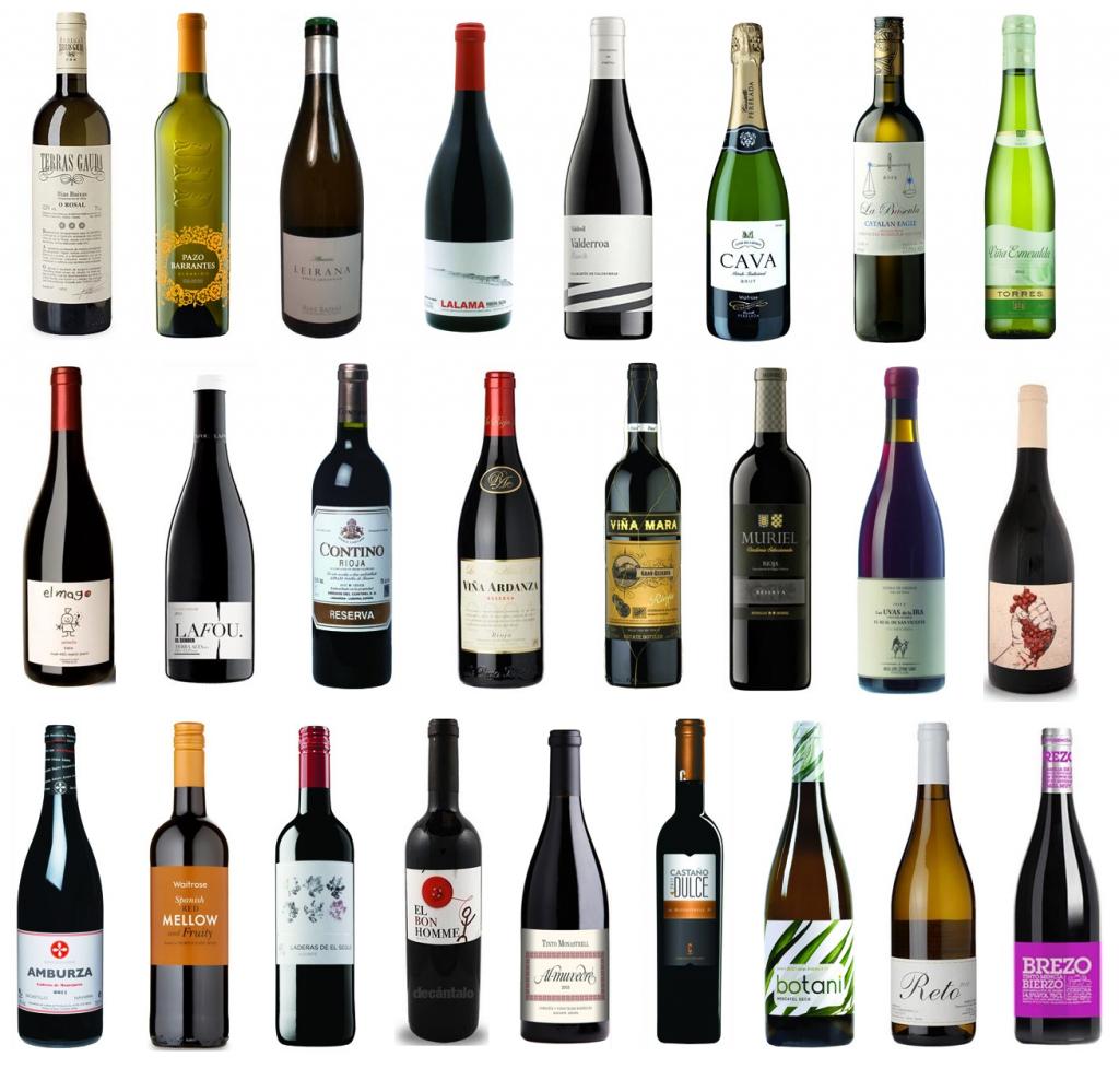 25 vinos decanter menos 25 libras