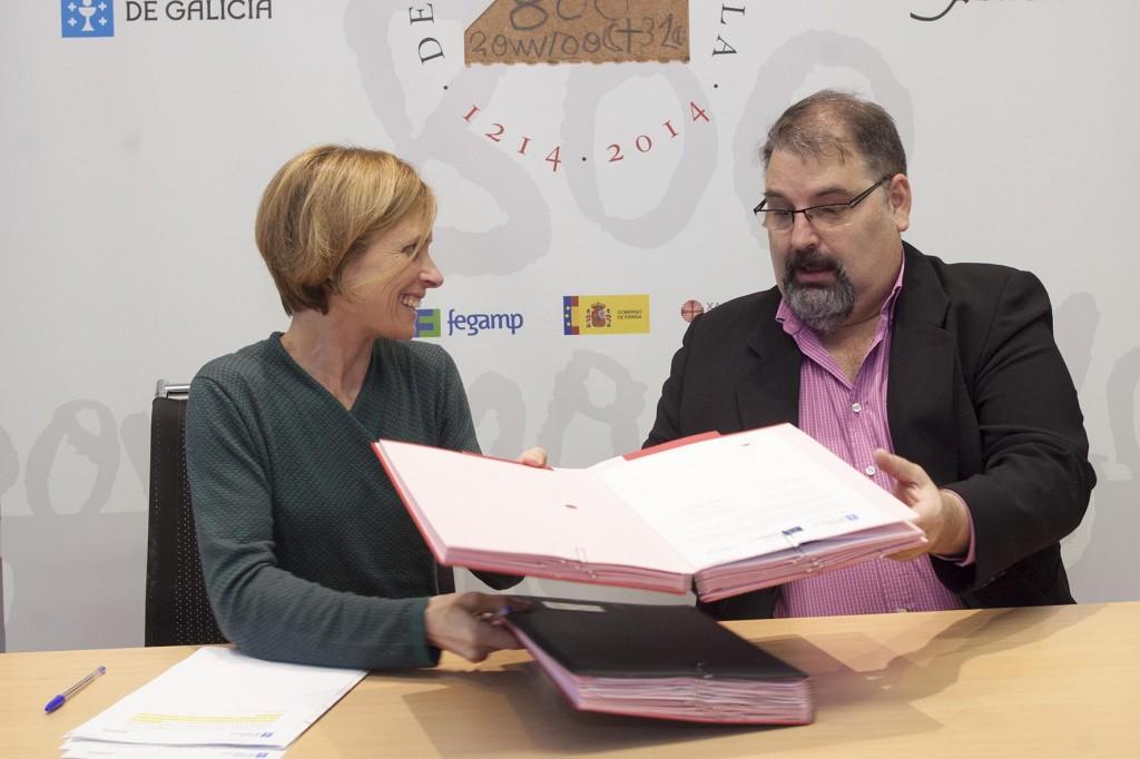 A directora de Turismo de Galicia, Nava Castro, e mais o presidente do Clúster de Turismo de Galicia, Francisco González, celebraron estes datos esta mañá nun encontro no que asinaron tres acordos